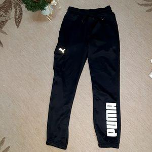 Boy's xl PUMA athletic black & white sweatpants
